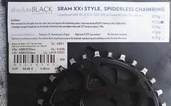 Absolute Black Spiderlless Chainring (Direct Mount) 30T