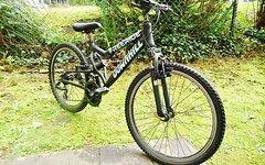 "Marke Unbekannt Jugend MTB Mountainbike Fully vollgefedert 24"""