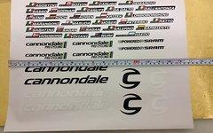 Cannondale Orginal Team Liquigas Aufkleber Sticker Teamfahrer Basso Sagan 2013/2014 SRAM Cannondale Aufkleber Sticker