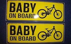Baby On Board Sticker/ Aufkleber 15 cm