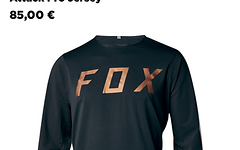 Fox Attack Pro Jersey 2017