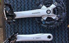 Shimano 3-Fach Kurbel incl. Pedalen Top Zustand