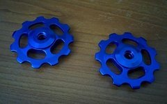 2 -Hot Schaltröllchen Jockey Wheels MTB Shimano LX Xt Xtr/Sram X0 X9 - Blau