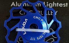 Cyconsult® Schaltwerkröllchen Set / 11 Zähne / Pully 11T *blau anodisiert* Aluminium