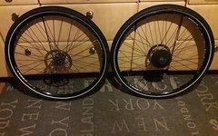 Alexrims EN24 Laufradsatz 28 Deore XT Naben Bremsscheiben 160/180
