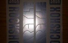 Evocore Design Rock Shox Argyle Sticker Set in CHROM
