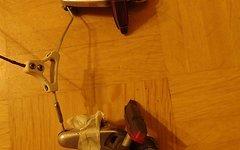 Shimano Bremse Shimano BR-M502 + Kool-Stop rot + Mounty Cablehanger + Bremshebel