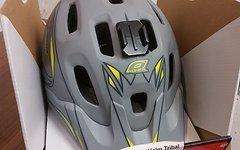 O'Neal Defender Helm Tribal Grau Gelb