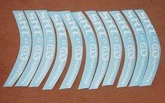 Ax-Lightness SRT-CC original Felgen-Sticker Aufkleber Decals NEU!