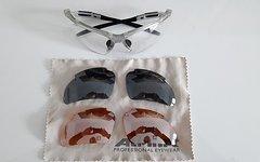 Alpina Bikebrille Brille 3 x Wechselgläser + Tasche