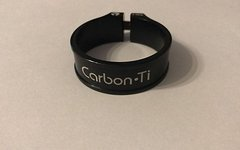 Carbon Ti sattelklemme 36,9mm Neu