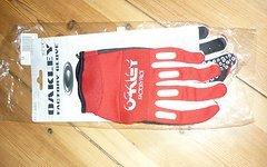 Oakley Factory Handschuhe Weiß-Rot Neu Größe M