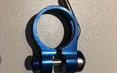 Carbon Ti Sattelklemme Schnellspanner blau 31,8 mm