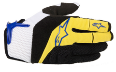 Alpinestars MOAB Gloves Yellow Electric Blue XS