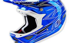 Troy Lee Designs D3 HELM PINSTRIPE 2 BLUE CHROME Gr. M Neu