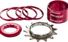 Reverse Components Single Speed Kit / 13T SSP-Kit: Cog 13T,2*10mm,1*5mm,4*3mm,+ Ring Nut