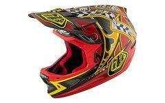 Troy Lee Designs D3 CARBON Longshot Red MIPS Fullface Helm S *NEU*