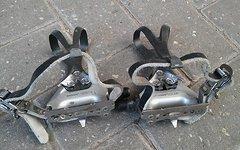 Shimano 105 Pedale mit Körbchen