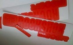 Gabeldecals RockShox Boxxer 2018 Aufkleber Satz - STEALTH RED Design