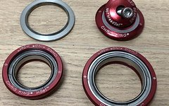 Chris King I2 Inset Zs44/56 InSet i2 Steuersatz rot tapered ZS 44 / 56
