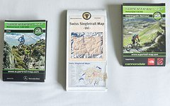 Set: Supertrail Map Visp + Unterengadin/Samnaun + Swiss Singletrail Map Uri