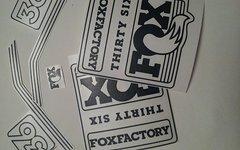 Gabeldecals FOX 36 2016 Custom Aufkleber - glänzend Schwarz