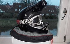 Troy Lee Designs D2 Midnight Black M/L inkl. Fox Main Goggle