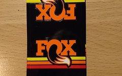 Fox Heritage VAN Dämpfer Sticker Aufkleber orange