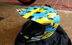 O'Neal DH-406 Fullface Helm Gr.L Downhill MTB gelb blau