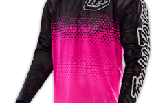 "Troy Lee Designs SE AIR JERSEY ""Gr. S"" STARBURST FLO PINK/BLACK"