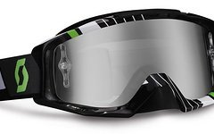 Scott Tyrant Race Black Green / Lime Silver Chrome Works Goggle NEU & OVP