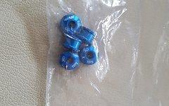 Aluminium Kettenblattschrauben (5 Stück!) / 5mm *blau*