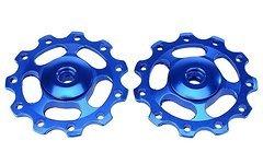 2 x Hot Schaltröllchen Jockey Wheels MTB Shimano LX Xt Xtr/Sram X0 X9 - Blau