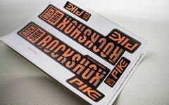 Rock Shox Pike Decals, Orange - Matt - Design Mod. 2018 + kostenloser Versand