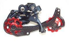 Paar Schaltröllchen Jockey Wheels MTB Shimano LX Xt Xtr/Sram X0 X9 - Rot