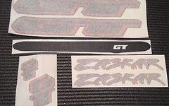 GT Zaskar OEM Decals Aufkleber schwarz rot neu