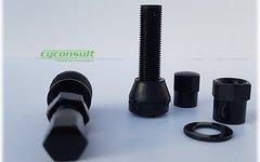 Aluminium AV Tubeless Ventil Set *schwarz*