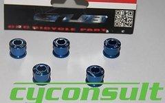 Cyconsult® Alu Kettenblattschrauben (5 Stück!) M8x6mm *blau*