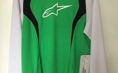 Alpinestars Drop Jersey Long Sleeve Bright Green White XXL