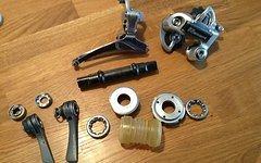 Shimano 600 Schaltwerk, Umwerfer,...