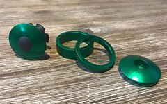A-Head Cap / Spacer set frog green 1 1/8""