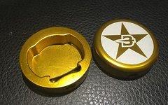 Brave 2x BRAVE Endcaps GOLD Endkappen Lenkerenden NEU