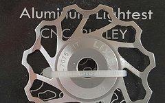 Cyconsult® Schaltwerkröllchen Set / 11 Zähne / Pully 11T *silber anodisiert* Aluminium