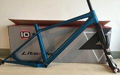 Liteville NEU Liteville H-3 blau eloxiert Größe XL + Rock Shox Pike boost