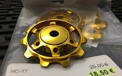 NC-17 Schaltwerksröllchen Eloxiert Set Gold -NEU!-