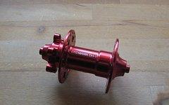 Erdmann VR-Nabe Erdmann DH-1, rot eloxiert, 36Loch, 100mm,QR5, 173g