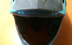 Specialized Fullface-Helm Dissident Comp Navy - Neon Blue Gr. M