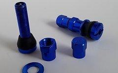 Aluminium AV Tubeless Ventil Set *blau*
