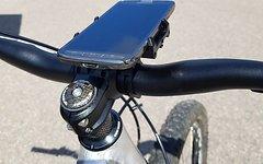 Aluminium CNC Smartphone Halter für Navi / Strava / GPS Tracking *schwarz*