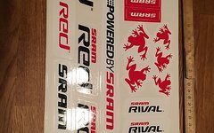 Sram Red Stickerbogen